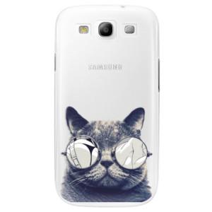 Plastové pouzdro iSaprio Crazy Cat 01 na mobil Samsung Galaxy S3