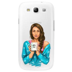 Plastové pouzdro iSaprio Coffe Now Brunette na mobil Samsung Galaxy S3