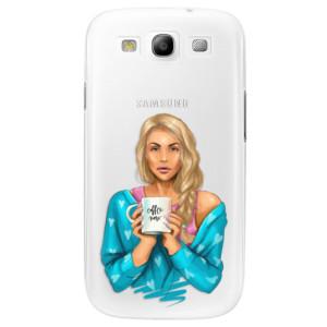 Plastové pouzdro iSaprio Coffe Now Blond na mobil Samsung Galaxy S3