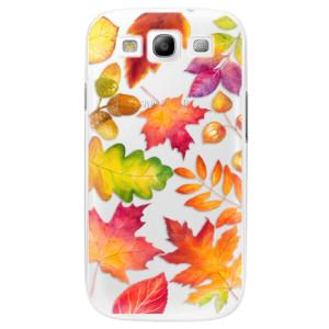 Plastové pouzdro iSaprio Autumn Leaves 01 na mobil Samsung Galaxy S3