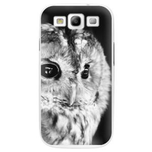 Plastové pouzdro iSaprio BW Owl na mobil Samsung Galaxy S3