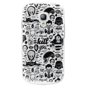 Plastové pouzdro iSaprio Comics 01 black na mobil Samsung Galaxy S3 Mini