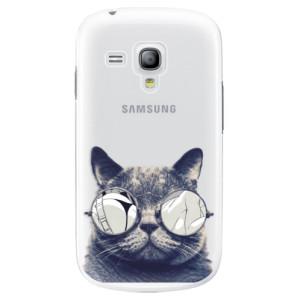 Plastové pouzdro iSaprio Crazy Cat 01 na mobil Samsung Galaxy S3 Mini