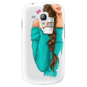 Plastové pouzdro iSaprio My Coffe and Brunette Girl na mobil Samsung Galaxy S3 Mini