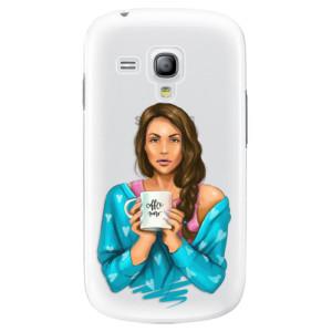 Plastové pouzdro iSaprio Coffe Now Brunette na mobil Samsung Galaxy S3 Mini