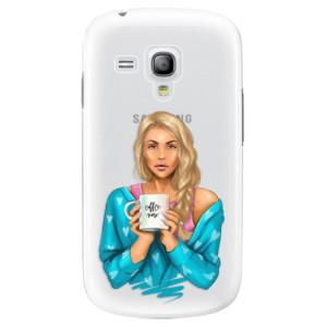 Plastové pouzdro iSaprio Coffe Now Blond na mobil Samsung Galaxy S3 Mini