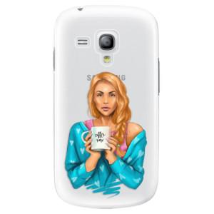 Plastové pouzdro iSaprio Coffe Now Redhead na mobil Samsung Galaxy S3 Mini