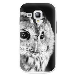 Plastové pouzdro iSaprio BW Owl na mobil Samsung Galaxy S3 Mini
