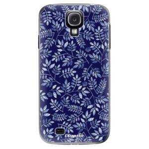 Plastové pouzdro iSaprio Blue Leaves 05 na mobil Samsung Galaxy S4
