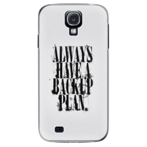 Plastové pouzdro iSaprio Backup Plan na mobil Samsung Galaxy S4