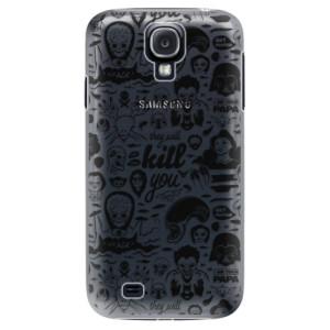Plastové pouzdro iSaprio Comics 01 black na mobil Samsung Galaxy S4