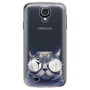 Plastové pouzdro iSaprio Crazy Cat 01 na mobil Samsung Galaxy S4