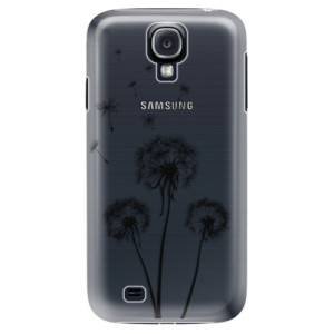 Plastové pouzdro iSaprio Three Dandelions black na mobil Samsung Galaxy S4