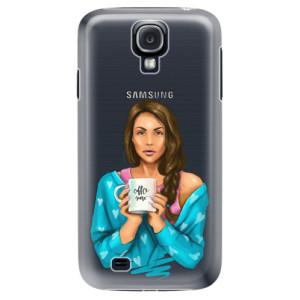 Plastové pouzdro iSaprio Coffe Now Brunette na mobil Samsung Galaxy S4