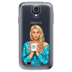 Plastové pouzdro iSaprio Coffe Now Blond na mobil Samsung Galaxy S4