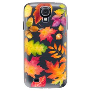 Plastové pouzdro iSaprio Autumn Leaves 01 na mobil Samsung Galaxy S4