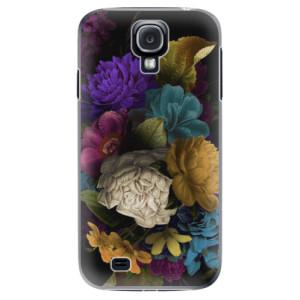Plastové pouzdro iSaprio Dark Flowers na mobil Samsung Galaxy S4