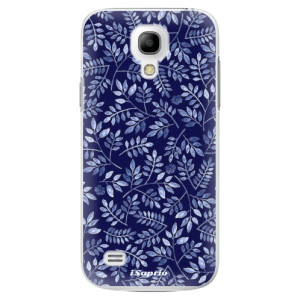 Plastové pouzdro iSaprio Blue Leaves 05 na mobil Samsung Galaxy S4 Mini