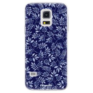 Plastové pouzdro iSaprio Blue Leaves 05 na mobil Samsung Galaxy S5 Mini
