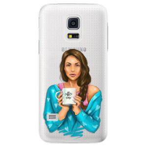 Plastové pouzdro iSaprio Coffe Now Brunette na mobil Samsung Galaxy S5 Mini