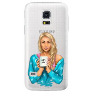 Plastové pouzdro iSaprio Coffe Now Blond na mobil Samsung Galaxy S5 Mini