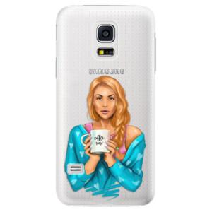 Plastové pouzdro iSaprio Coffe Now Redhead na mobil Samsung Galaxy S5 Mini