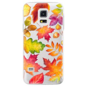 Plastové pouzdro iSaprio Autumn Leaves 01 na mobil Samsung Galaxy S5 Mini
