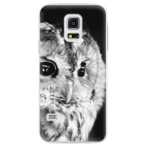Plastové pouzdro iSaprio BW Owl na mobil Samsung Galaxy S5 Mini