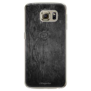 Plastové pouzdro iSaprio Black Wood 13 na mobil Samsung Galaxy S6