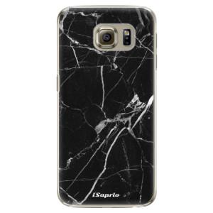 Plastové pouzdro iSaprio Black Marble 18 na mobil Samsung Galaxy S6