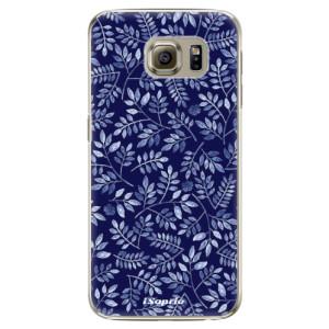 Plastové pouzdro iSaprio Blue Leaves 05 na mobil Samsung Galaxy S6
