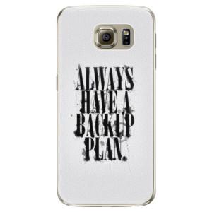 Plastové pouzdro iSaprio Backup Plan na mobil Samsung Galaxy S6