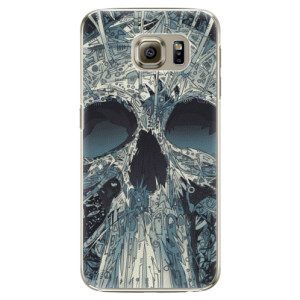 Plastové pouzdro iSaprio Abstract Skull na mobil Samsung Galaxy S6