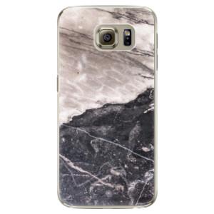 Plastové pouzdro iSaprio BW Marble na mobil Samsung Galaxy S6