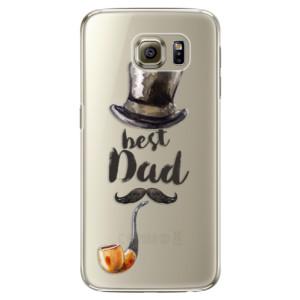 Plastové pouzdro iSaprio Best Dad na mobil Samsung Galaxy S6