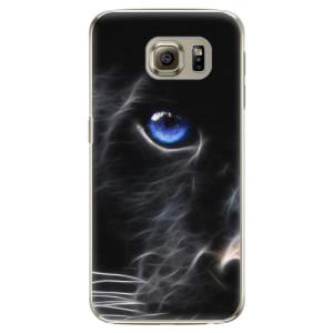 Plastové pouzdro iSaprio Black Puma na mobil Samsung Galaxy S6