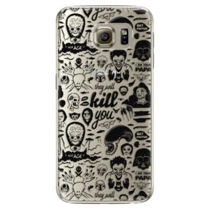 Plastové pouzdro iSaprio Comics 01 black na mobil Samsung Galaxy S6
