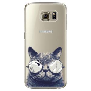 Plastové pouzdro iSaprio Crazy Cat 01 na mobil Samsung Galaxy S6