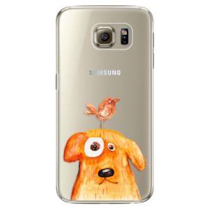 Plastové pouzdro iSaprio Dog And Bird na mobil Samsung Galaxy S6