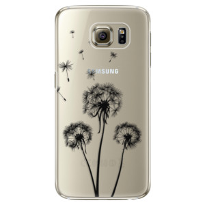 Plastové pouzdro iSaprio Three Dandelions black na mobil Samsung Galaxy S6 - poslední kus za tuto cenu