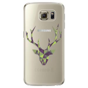Plastové pouzdro iSaprio Deer Green na mobil Samsung Galaxy S6