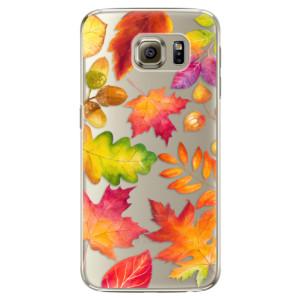 Plastové pouzdro iSaprio Autumn Leaves 01 na mobil Samsung Galaxy S6