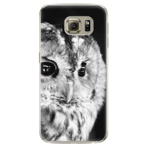 Plastové pouzdro iSaprio BW Owl na mobil Samsung Galaxy S6