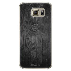 Plastové pouzdro iSaprio Black Wood 13 na mobil Samsung Galaxy S6 Edge