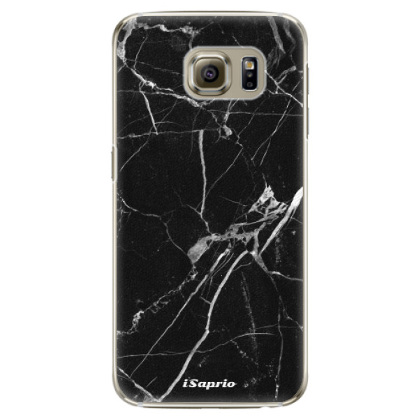 Plastové pouzdro iSaprio Black Marble 18 na mobil Samsung Galaxy S6 Edge (Plastový obal, kryt, pouzdro iSaprio Black Marble 18 na mobilní telefon Samsung Galaxy S6 Edge)
