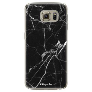 Plastové pouzdro iSaprio Black Marble 18 na mobil Samsung Galaxy S6 Edge