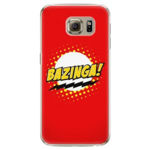 Plastové pouzdro iSaprio Bazinga 01 na mobil Samsung Galaxy S6 Edge