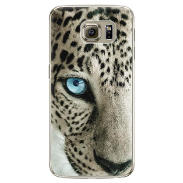 Plastové pouzdro iSaprio white Panther na mobil Samsung Galaxy S6 Edge (Plastový obal, kryt, pouzdro iSaprio white Panther na mobilní telefon Samsung Galaxy S6 Edge)