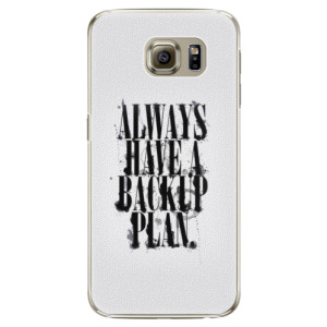 Plastové pouzdro iSaprio Backup Plan na mobil Samsung Galaxy S6 Edge