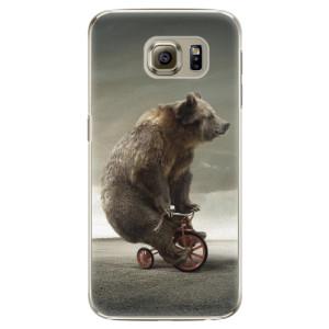 Plastové pouzdro iSaprio Bear 01 na mobil Samsung Galaxy S6 Edge